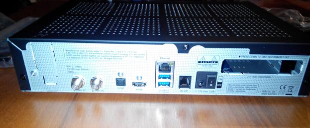 Задняя панель VU+ Solo 4K